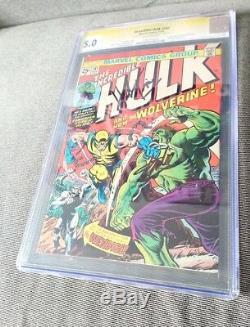 Hulk #181 1974 Rare Signed 2x Herb Trimpe Stan Lee CGC 5.0 Holy Grail
