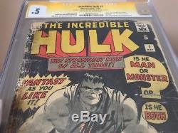 Incredible Hulk #1 (1962) CGC Graded 0.5 Origin Hulk Signed Stan Lee Jack Kirby
