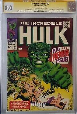 Incredible Hulk #102 Cgc 8.0 Ss Signed Stan Lee Origin Retold