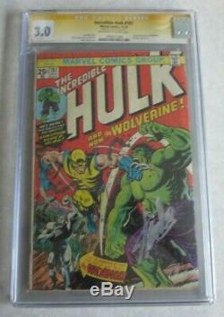 Incredible Hulk 181 CGC 3.0 Signed By Stan Lee WOW
