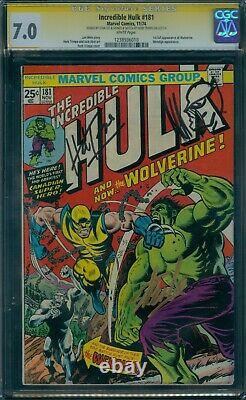 Incredible Hulk 181 CGC 7.0 Signature Series Stan Lee & Herb Trimpe (+ sketch)