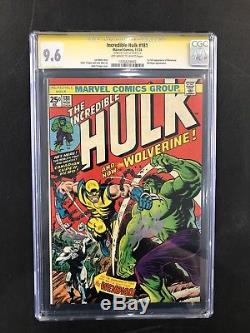 Incredible Hulk #181 CGC 9.6 1st Full Appearance Wolverine SIGNED STAN LEE