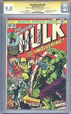 Incredible Hulk #181 Vol 1 CGC 9.0 SS Signed by Stan Lee Len Wein & Herb Trimpe