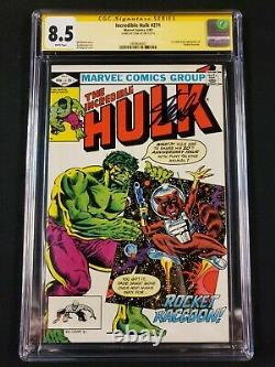 Incredible Hulk #271 CGC SS 8.5 Signed by Stan Lee! First Comic Rocket Racoon