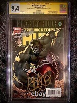 Incredible Hulk #92 Cgc Ss 9.4 Signed By Stan Lee, Mark Ruffalo, Taiki Waititi