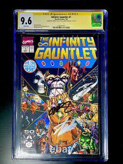 Infinity Gauntlet 1 CGC 9.6 Signed Stan Lee Jim Starlin