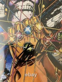 Infinity Gauntlet #1 Newsstand Edition CGC 9.8 SS STAN LEE SIGNED Avengers Movie