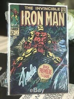 Invincible Iron Man #1 Signed by STAN LEE (1968) First #1 Solo Series