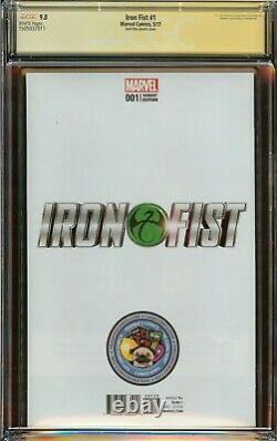 Iron Fist #1 CGC 9.8, Gabriele Dell'Otto Virgin Cover, Signed Stan Lee 2017