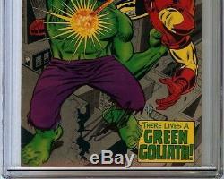 Iron Man #9 CGC 9.0 VF/NM Signed STAN LEE IRON MAN vs Hulk-Robot Mandarin app