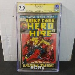 Luke Cage Hero For Hire #1 Cgc 7.0 Ss Signed Stan Lee