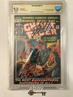 MARVEL SPOTLIGHT #5 CBCS 9.0 (like CGC) Signed by Stan Lee 1st Ghost Rider! Key