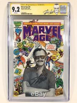 Marvel Age 41 CGC SS 9.2 Signed by Stan Lee Front Cover Looks Higher