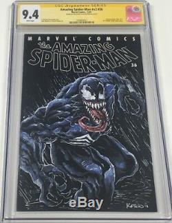 Marvel Amazing Spiderman #36 Signed & Sketched by Alex Kotkin CGC SS