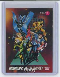 Marvel Cards Guardians Of The Galaxy #178 Signed Autographed By Stan Lee