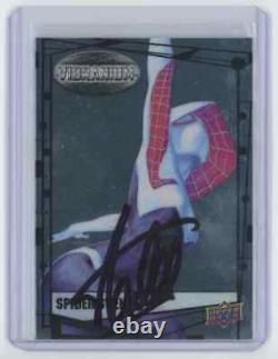 Marvel Cards Spider Gwen Signed Autographed By Stan Lee
