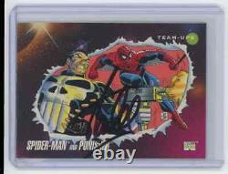 Marvel Cards Spider Man And Punisher Signed Autographed By Stan Lee