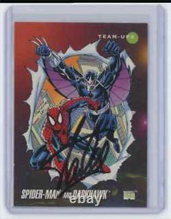 Marvel Cards Spider Man & Dark Hawk #81 Signed Autographed By Stan Lee