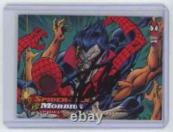 Marvel Cards Spider Man Vs Morbius #121 Signed Autographed By Stan Lee