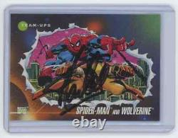 Marvel Cards Spiderman And Wolverine #74 Signed Autographed By Stan Lee