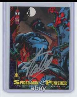 Marvel Cards Spiderman & Punisher #84 Signed By Stan Lee