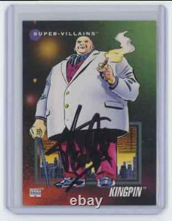 Marvel Cards The Kingpin #130 Signed Autographed By Stan Lee