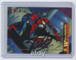 Marvel Cards Wall Crawling Powers #1 Signed Autographed By Stan Lee