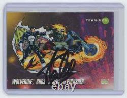 Marvel Cards Wolverine, Ghost Rider & Punisher #88 Signed Autograped By Stan Lee