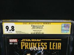 Marvel Comics Star Wars Princess Leia #1 Signed by Stan Lee CGC 9.8 Variant