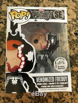 Marvel Comics Venomized Freddy Funko Custom Stan Lee signed Funko Pop 1/1