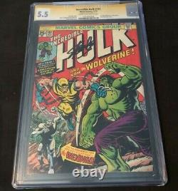 Marvel INCREDIBLE HULK #181 CGC 5.5 SIGNED STAN LEE FIRST APPEARANCE WOLVERINE