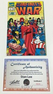 Marvel Infinity War #1 Signed by Stan Lee withCOA Spider-Man Avengers Movie