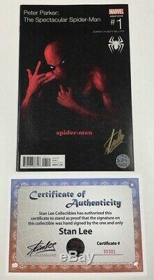 Marvel Peter Parker Spectacular Spiderman #1 Hip Hop Signed by Stan Lee withCOA