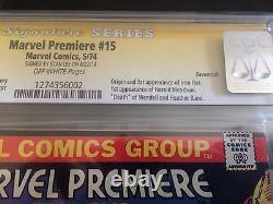 Marvel Premiere #15 CGC 9.6 (Savannah Pedigree) Signed by Stan Lee