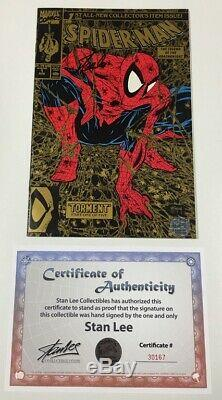 Marvel Spider-man #1 Gold Variant Signed by Stan Lee withCOA Todd McFarlane Cover