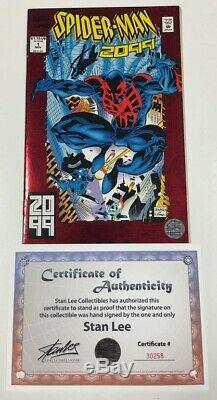 Marvel Spider-man 2099 #1 Foil Cover Signed by Stan Lee withCOA