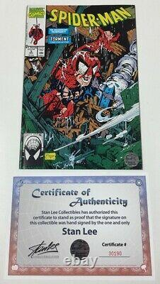 Marvel Spider-man #5 Torment Signed by Stan Lee withCOA Todd McFarlane Cover