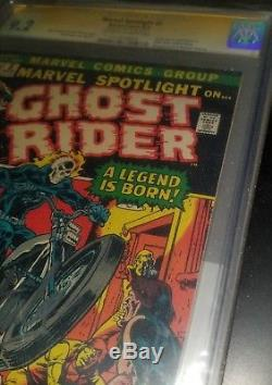 Marvel Spotlight #5 CGC 9.2 Signed by Stan Lee Ghost Rider Ghostrider