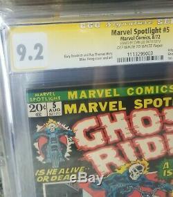 Marvel Spotlight #5 Cgc 9.2 Signed By Stan Lee! Origin/1st App Plus Bonus Comic