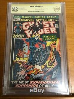 Marvel Spotlight #5 Signed By Stan Lee, Cbcs Graded, 1st Appearance Ghost Rider
