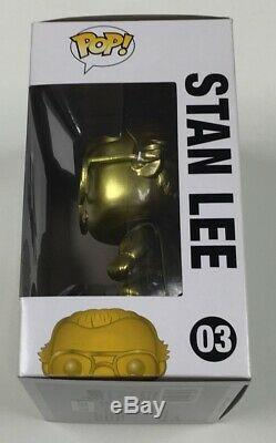 Marvel Stan Lee Gold Funko Pop #03 NYCC Exclusive Signed by Stan Lee withCOA