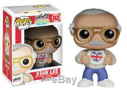 Marvel Stan Lee Signed Funko Pop Vinyl Figure Uk London Film Comic Con Exclusive