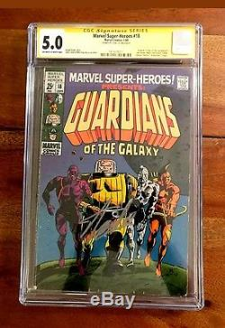 Marvel Super Heroes 18 1st Guardians of the Galaxy CGC 5.0 Signed Stan Lee Rare
