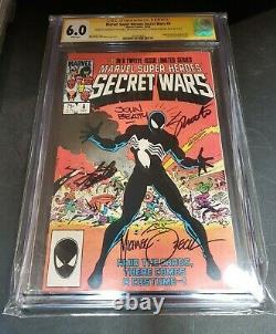 Marvel Super Heroes Secret Wars #8 (1984) Signed Stan Lee/shooter/zeck+ Cgc 6.0