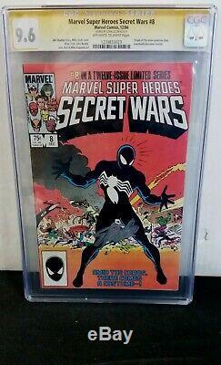 Marvel Super Heroes Secret Wars #8 Cgc 9.6 Ss Signed Stan Lee Venom Symbiote Wow