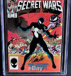 Marvel Super Heroes Secret Wars #8 Signed Stan Lee + Zeck Sketch Cgc 9.8