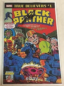 Marvel True Believers Black Panther #1 Reprint Signed by Stan Lee withCOA