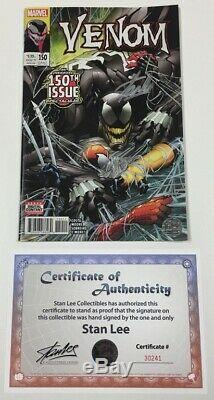 Marvel Venom #150 1st Print Signed by Stan Lee withCOA