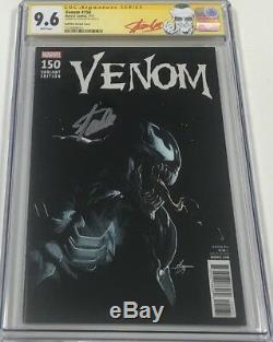 Marvel Venom #150 Signed by Stan Lee CGC 9.6 SS 125 Dell Otto Variant Red Label