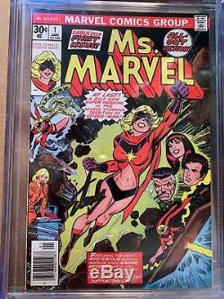 Ms. Marvel #1 (Jan 1977, Marvel) CGC 9.6 SS SIGNED BY STAN LEE Movie Qualified